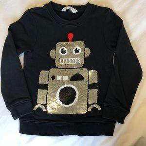 H & M Robot Reversible Sequin Sweatshirt 6 - 8 yrs